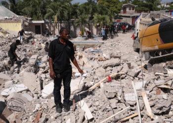 Από τον πρόσφατο σεισμό στην Αϊτή (φωτ.: EPA/ Orlando Barria)