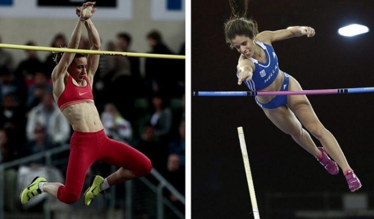 Οι κορυφαίες επικοντίστριές μας Νικόλ Κυριακοπούλου και Κατερίνα Στεφανίδη σε παλαιότερες αθλητικές διοργανώσεις