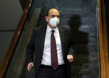 Ο βουλευτής της ΝΔ Μακάριος Λαζαρίδης (φωτ.: ΑΠΕ-ΜΠΕ/ Ορέστης Παναγιώτου)