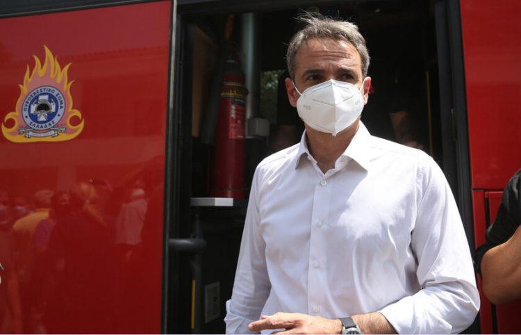 Ο πρωθυπουργός Κυριάκος Μητσοτάκης την Πέμπτη 5 Αυγούστου 2021 (φωτ.: ΑΠΕ-ΜΠΕ/ Ορέστης Παναγιώτου)