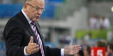 Στιγμιότυπο από το Eurobasket του 2013, την περίοδο που ο Ίβκοβιτς ήταν προπονητής της Σερβίας (φωτ.: EPA/ANDREJ CUKIC)
