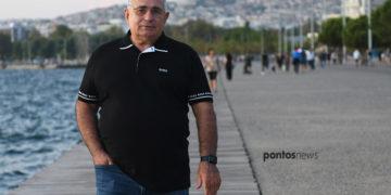 Ο Βαλέριος Ασλανίδης στην παραλία της Θεσσαλονίκης (φωτ.: Φίλιππος Φασούλας)