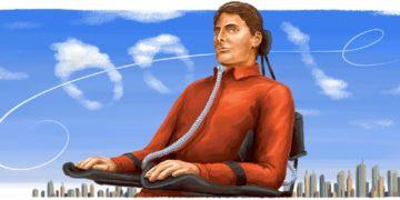 Ο Κρίστοφερ Ριβ (σκίτσο: google.com/doodles)