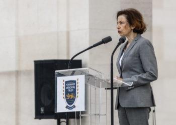 Η υπουργός Άμυνας της Γαλλίας (φωτ.: EPA/ Sameer Al-Doumy)