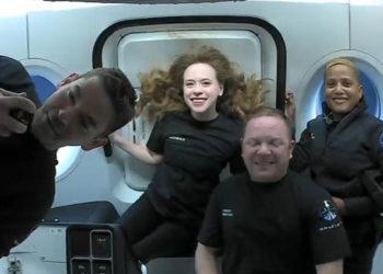 Τοτετραμελές πλήρωμα των ερασιτεχνών αστροναυτών της αποστολής Inspiration4 (φωτ.: Twitter /Inspiration4)
