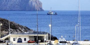 Τουρκικά αλιευτικά  στο Καψάλι των Κυθήρων (φωτ.: kythera.news / George Samios)