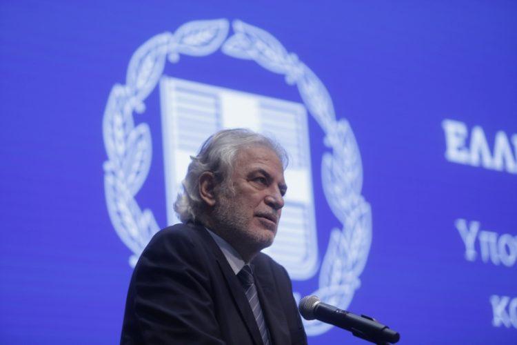 Ο υπουργός Κλιματικής Κρίσης και Πολιτικής Προστασίας  Χρήστος Στυλιανίδης (φωτ.: ΑΠΕ-ΜΠΕ/ΚΩΣΤΑΣ ΤΣΙΡΩΝΗΣ)