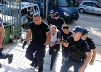 O Εμμανουήλ Σοροπίδης, ο οποίος κατηγορείται για τη δολοφονία της 32χρονης εφοριακού Δώρας Ζέμπερη στο Β' Νεκροταφείο, τον Οκτώβριο του 2017 (φωτ. αρχείου: ΑΠΕ-ΜΠΕ/Παντελής Σαΐτας)