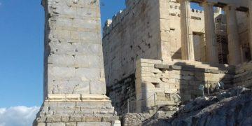 Η βάση του η βάση του μνημείου του Αγρίππα (φωτ. αρχείου: twitter.com/STAMATAKISMICHA)