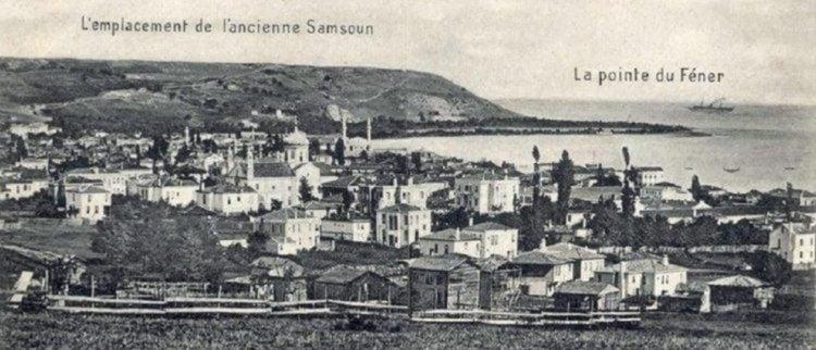 Καρτ ποστάλ με την παλαιά τοποθεσία της Σαμψούντας