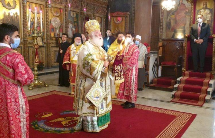 Ο Πατριάρχης Αλεξανδρείας και πάσης Αφρικής Θεόδωρος (φωτ.: ΑΠΕ-ΜΠΕ/ STR)