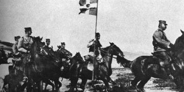 Κωνσταντίνο προελαύνουνκατά των Τούρκων στον κάμπο της Κεντρικής Μακεδονίας (πηγή: «ΝΙΑΟΥΣΤΑ»)