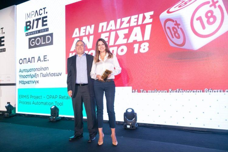 Άσπα Φλωριά, Retail Support Director του ΟΠΑΠ και Στρατής Βαλαβάνης, Applications Director του OΠΑΠ