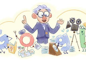 Το doodle της Google για τον Γιόραμ Γκρος (πηγή: google.com)
